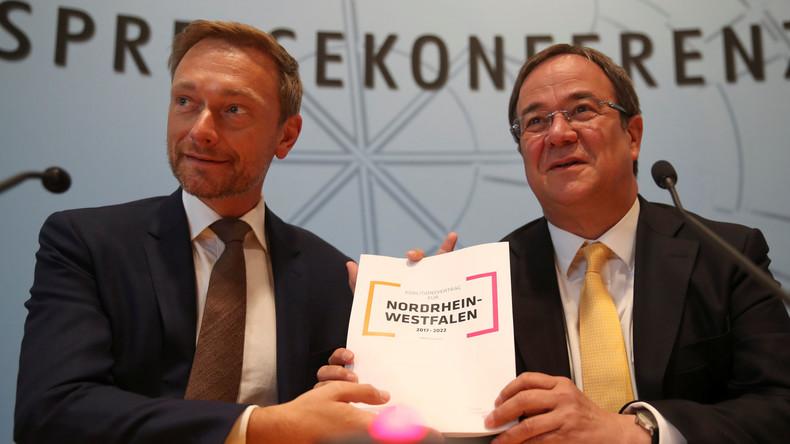 CDU und FDP unterzeichnen Koalitionsvertrag für Nordrhein-Westfalen