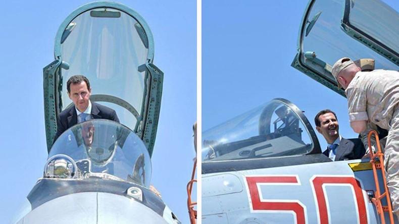 Baschar al-Assad besucht russischen Luftwaffenstützpunkt Hmeimim