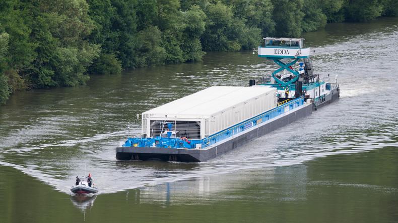 Atommüll-Transport am Zwischenlager in Neckarwestheim angekommen