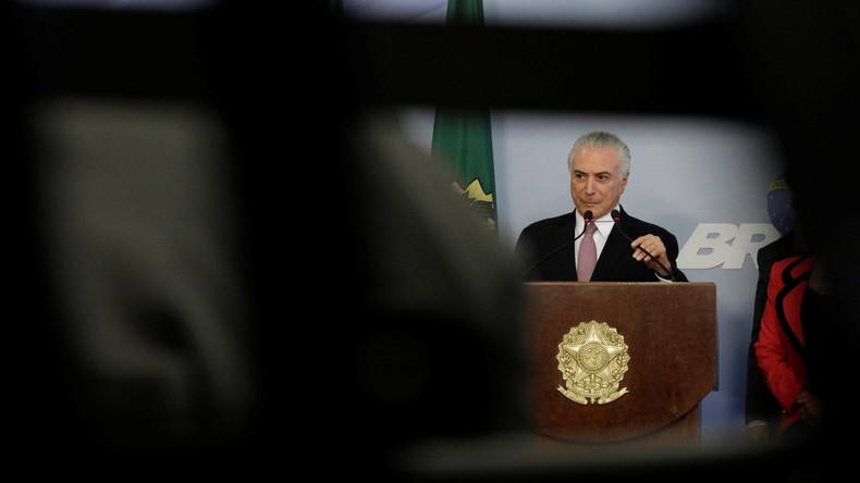 Brasiliens Staatschef bleibt G20-Gipfel in Hamburg fern