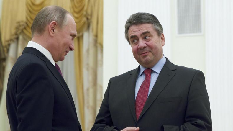 Wladimir Putin trifft sich mit Sigmar Gabriel