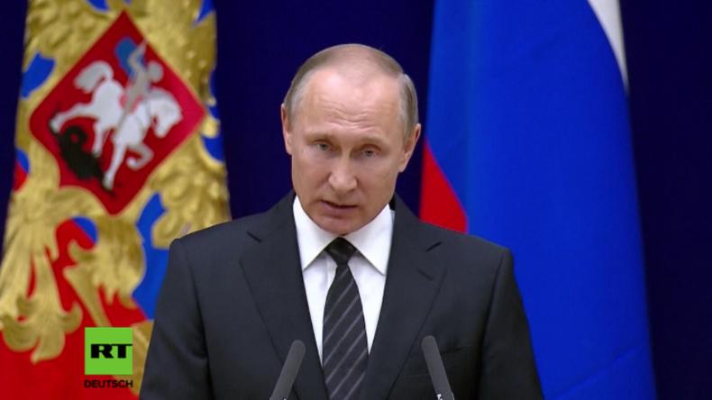 Putin: Verschiedene Geheimdienste nutzen Terroristen als Waffe gegen Russland