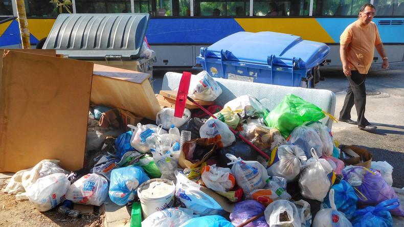 Griechische Müllarbeiter beenden Streik