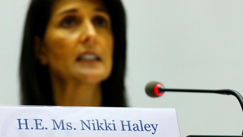 Die UN-Botschafterin der USA, Nikki Haley