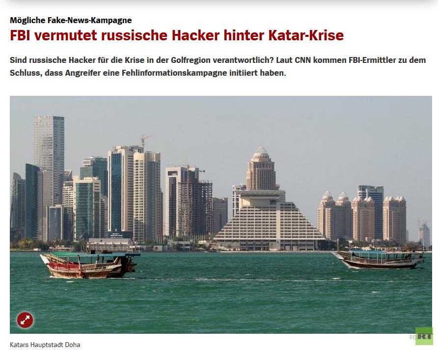 Russische Hacker nun auch hinter Katar-Krise vermutet: Lesern in deutschen Foren platzt der Kragen
