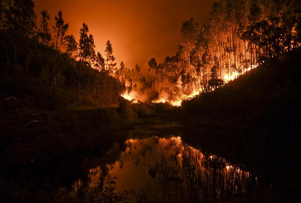 Die verheerenden Brände sind möglicherweise durch einen Blitzschlag während eines trockenen Gewitters verursacht worden.