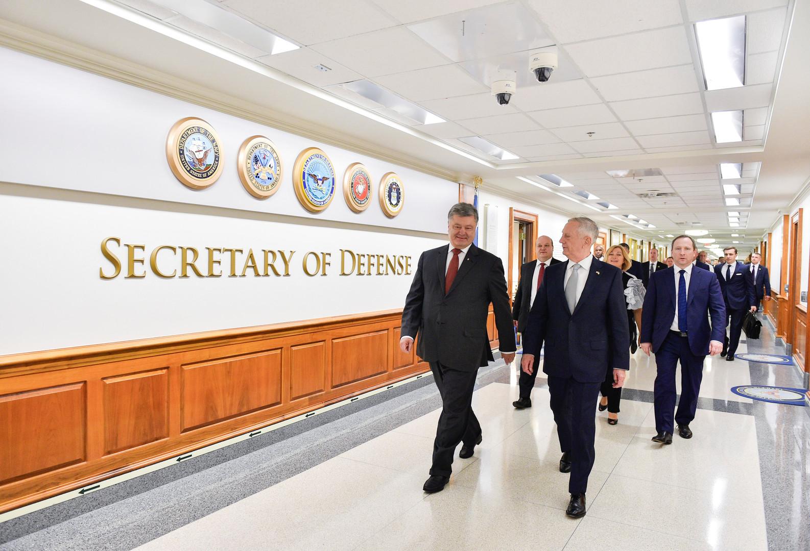 Poroschenko: Noch in diesem Jahr frische Waffen aus den USA an die Ukraine