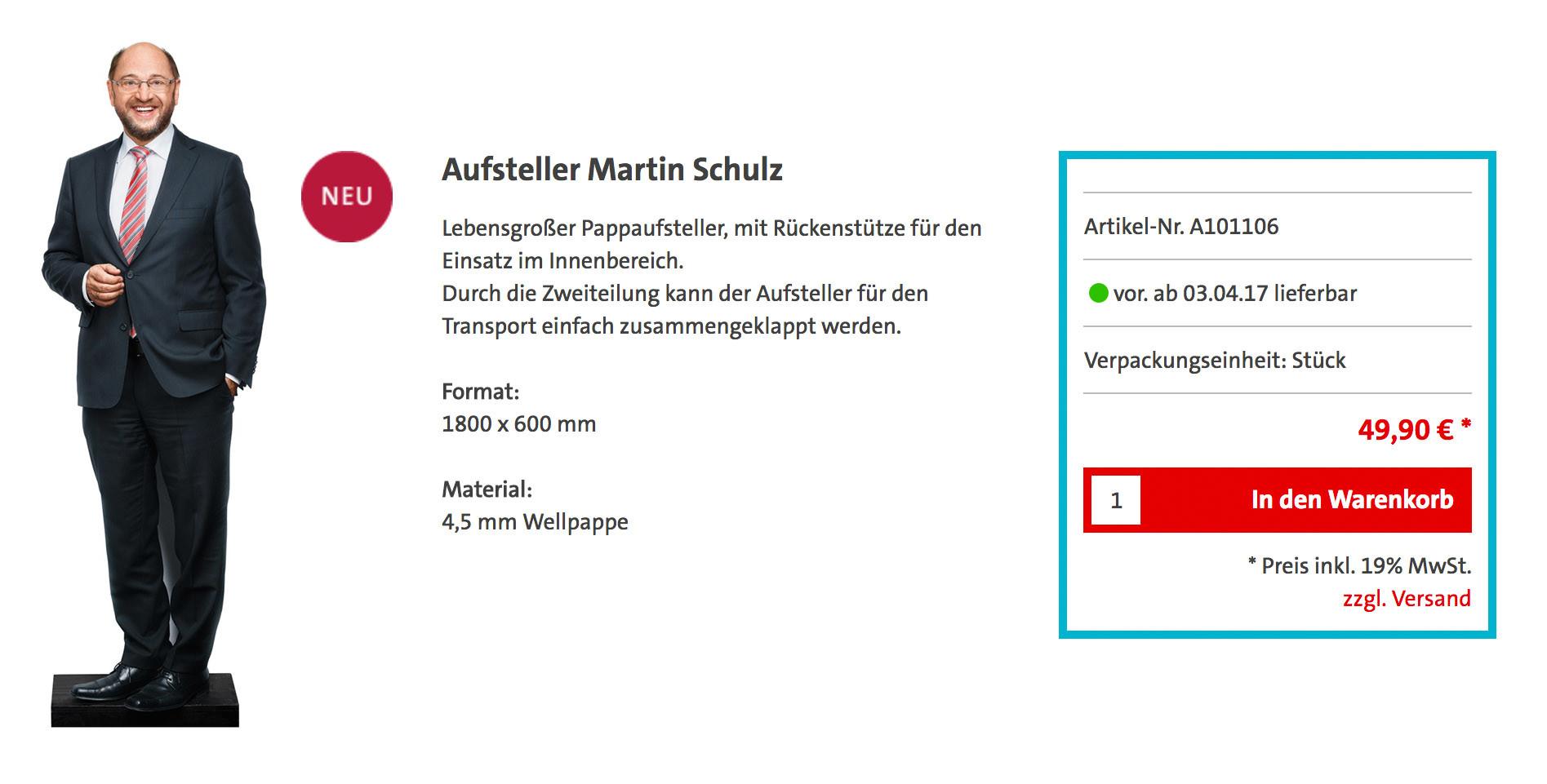 Personenkult auch ohne Sozialismus: Die SPD setzt auf den Papp-Martin