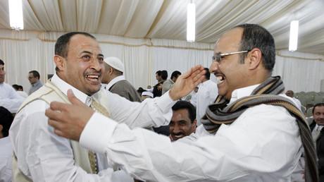 Mitglieder der Libysch-Islamische Kampfgruppe (LIFG) in Tripolis im Februar 2011.