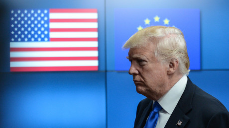Donald Trump bei einem Meeting in Brüssel