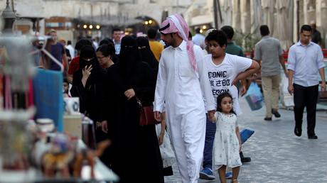 Straßenszene aus Doha, Katar, 31. August 2016.
