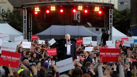 Jeremy Corbyn, Chef der britischen Labour Party, bei einer Wahlkampfveranstaltung in Birmingham, 6. Juni 2017.