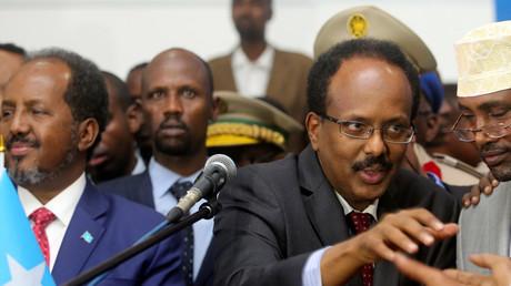 Der neu gewählte somalische Präsident Mohamed Abdullahi Farmajo Mogadischu, Somalia, 8. Februar 2017.