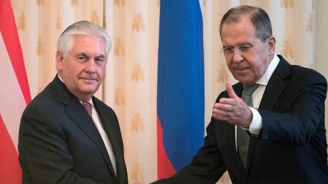 US-Außenminister Rex Tillerson mit seinem Amtskollegen Sergej Lawrow im Februar dieses Jahres in Moskau.