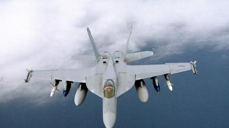 Eine F-18 der US-Navy im Einsatz