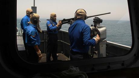 Die Marine von Katar bei einer gemeinsamen Übung mit der US-Navy, 16. Juni 2017.
