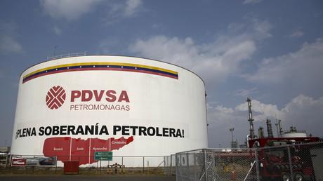 Öltank auf dem PDVSA-Komplex