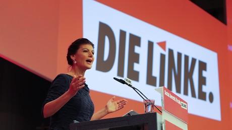 Sarah Wagenknecht beim Parteitag der Linken, Hannover, Deutschland, 11. Juni 2017.