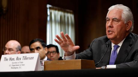 Der amerikanische Außenminister Rex Tillerson in der Anhörung des Auswärtigen Ausschusses des Senats in Washington, 13. Juni 2017.