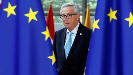 Der Präsident der Europäischen Kommission, Jean-Claude Junker, trifft zum Gipfel im Brüssel ein, 22. Juni 2017.