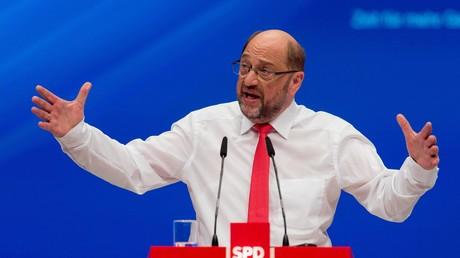 SDP-Vorsitzender Martin Schulz auf dem SPD-Bundesparteitag - 25. Juni 2017.