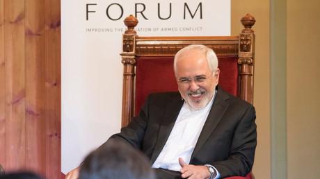 Der iranische Außenminister Javad Zarif bei der Eröffnung des Olso-Forums, Norwegen, 13. Juni 2017.