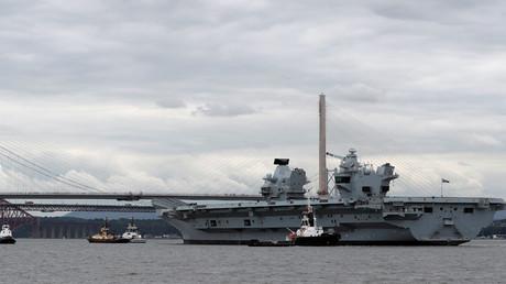 Der britische Flugzeugträger HMS Queen Elizabeth