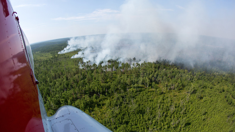 Waldbrände in Transbaikalien breiten sich weiterhin aus: 33.000 Hektar Taiga stehen in Flammen
