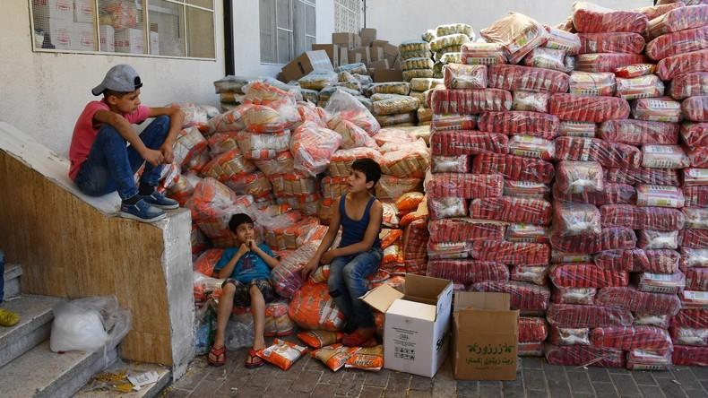 Russland hilft Syrern mit knapp vier Tonnen Hilfsgütern