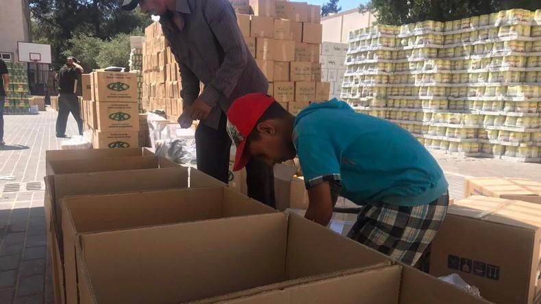 Russland liefert humanitäre Hilfe für Einwohner von Latakia