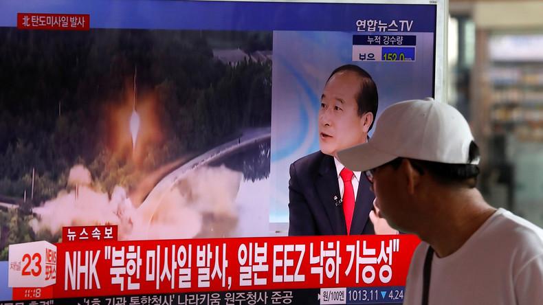 Nordkorea feuert erneut Testrakete ab