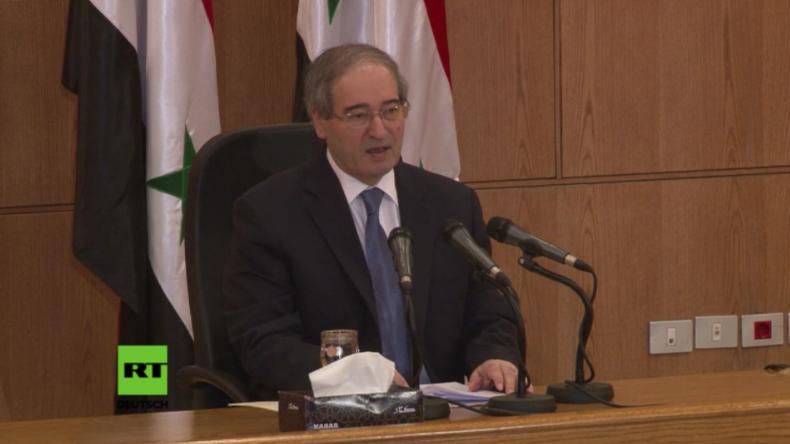 """Syrien: """"USA schaffen günstige Bedingungen für chemische Angriffe durch Terroristen"""""""