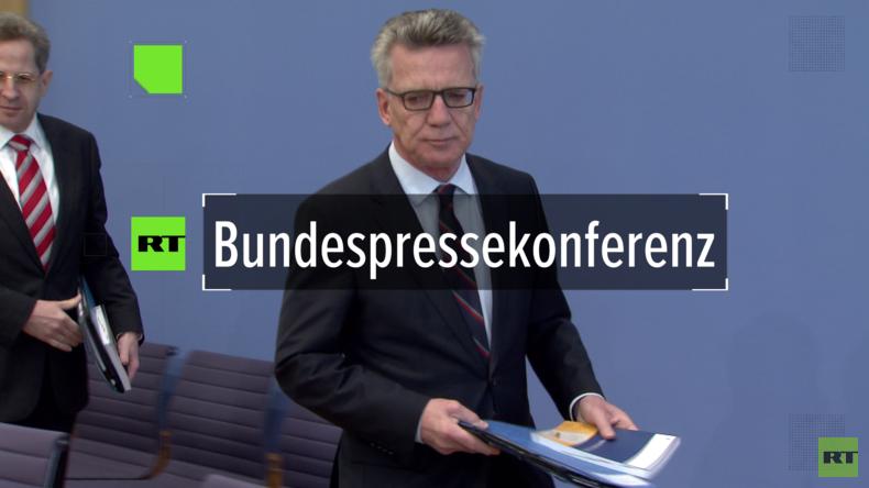 """De Maizière zu RT über Spionage in Deutschland: """"Methodik von Angriffen verweist auf Russland"""""""
