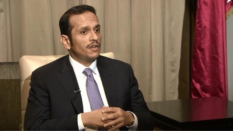 Live: Katarischer Außenminister spricht während seines Besuches in London über die Golf-Krise