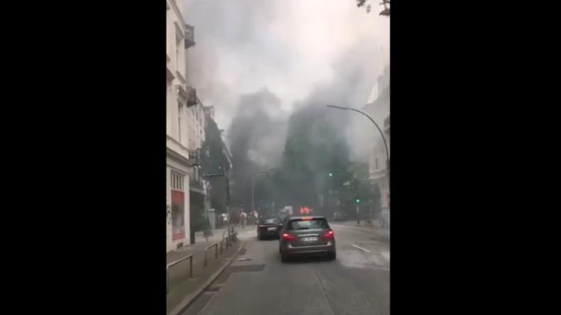 """""""Krieg in Hamburg"""" - Aufnahmen gewaltsamer Proteste gegen G20-Gipfel"""
