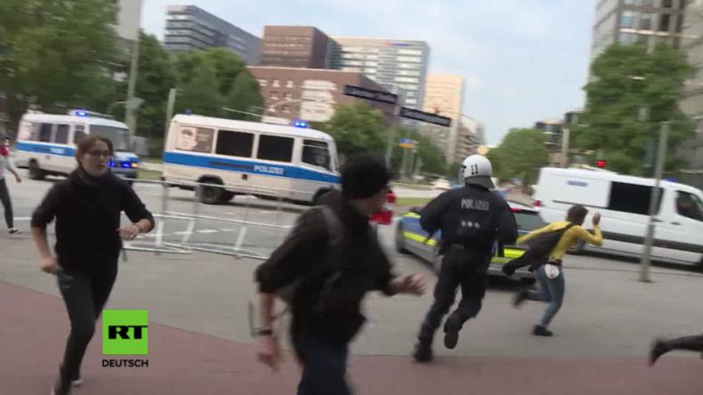 Jagdszenen zwischen pro-kurdischen Demonstranten und Polizei bei G20-Protesten