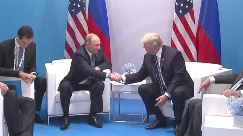 Erste Videoaufzeichnungen der Unterredung zwischen Putin und Trump