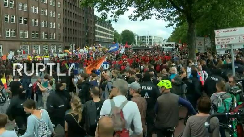 Live aus Hamburg: G20-Proteste am letzten Tag des Gipfels