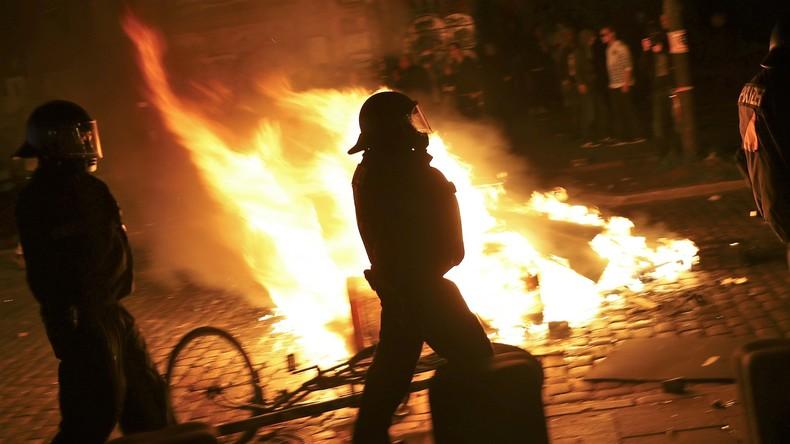 Letzte Brände in Hamburg - Ende der Ausschreitungen