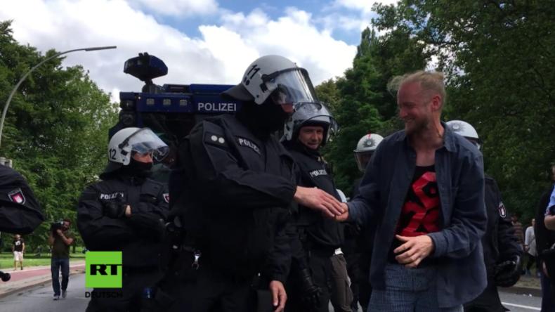 Die friedliche Seite der G20-Proteste überwiegt: Polizei erlebt Welle der Solidarität