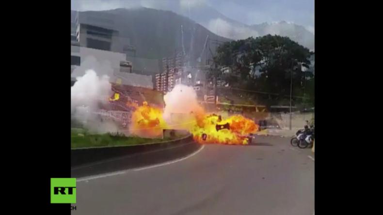 Anschlag in Venezuela? Explosion verletzt sieben Mitglieder der Nationalgarde schwer