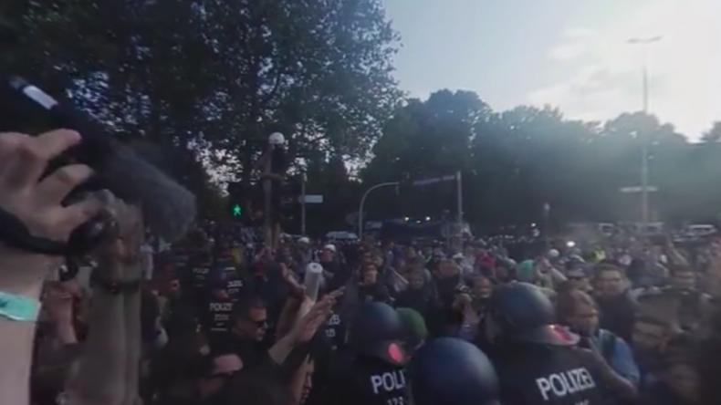 Volle Immersion: Proteste gegen G20-Gipfel in Hamburg im 360-Grad-Format