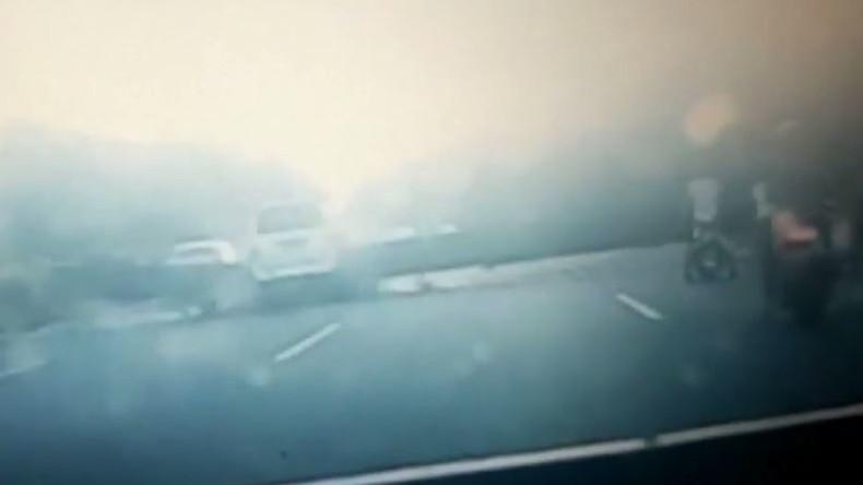 Baukran in China umgestürzt: sieben Tote