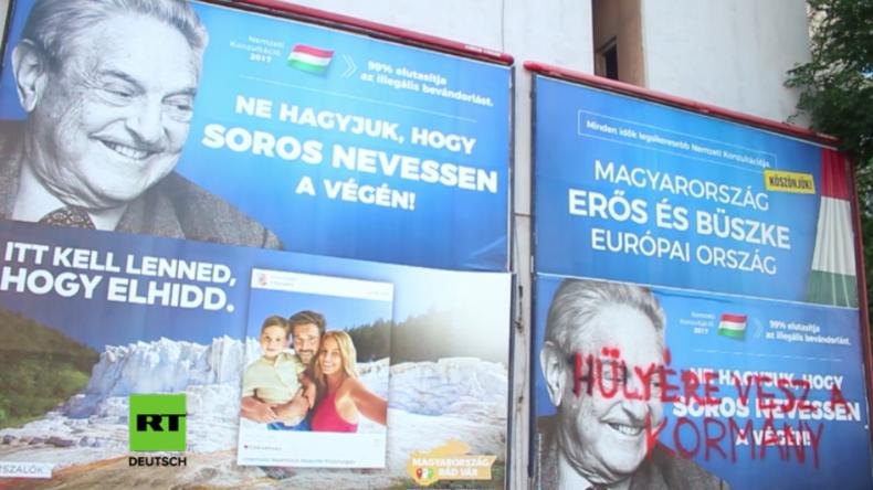 """""""99 Prozent lehnen illegale Einwanderung ab"""" - Ungarn startet Plakat-Aktion gegen George Soros"""