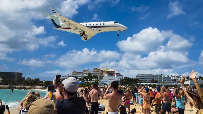 Turbinenwind tötet Touristin am Flughafen auf Karibikinsel