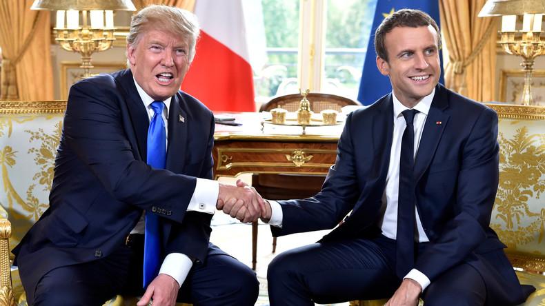 Macron zu Trump: Beseitigung von Terrorismus wichtiger als Absetzung Assads