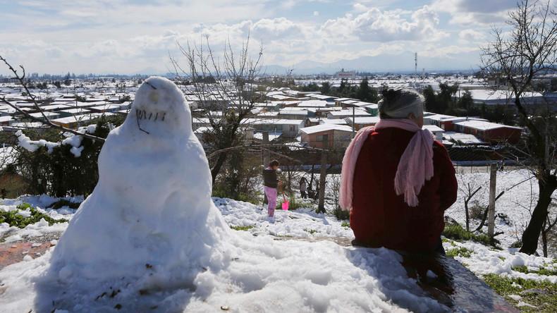 Schneefall in Zentralchile lässt mehr als 200.000 Menschen ohne Strom