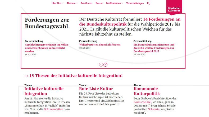 Deutscher Kulturrat fordert Geschlechtergerechtigkeit