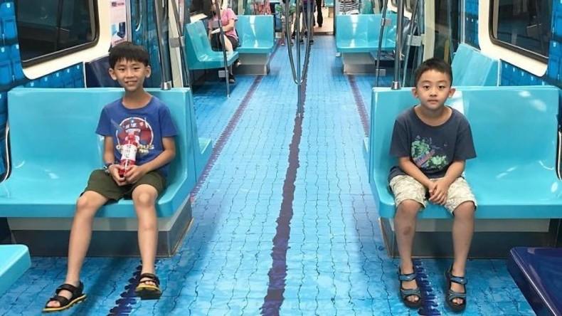 Im Vorfeld der Sommer-Universiade: Taiwanische U-Bahn verwandelt sich ins Schwimmbad