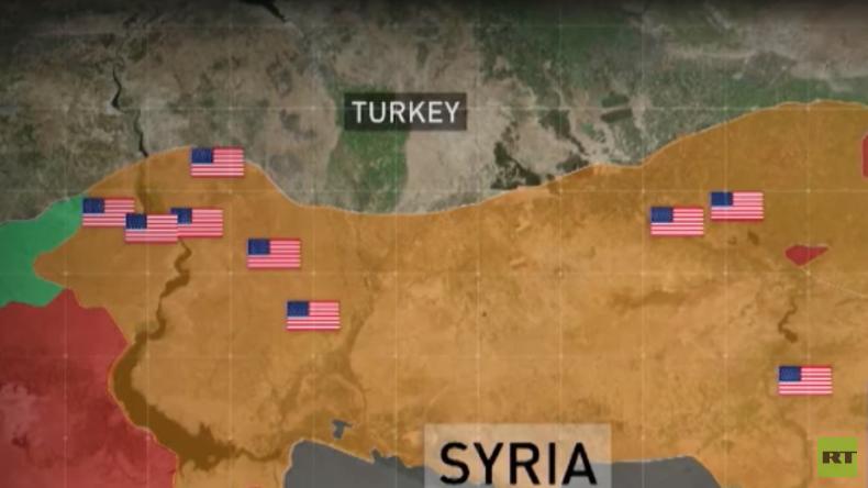 Türkei veröffentlicht Standorte und Details von US-Basen in Nordsyrien (Video)